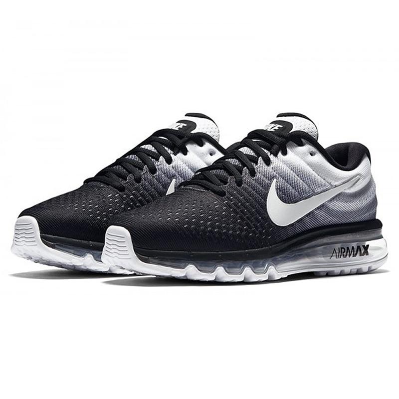 Original Nike AIR MAX 2017 Men's Running Shoes Sport Outdoor Mesh Breathable Sneakers Athletic Designer Footwear 849559 010
