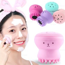 Blackhead-Remover Pore-Cleaner Washing-Brush Face-Scrub Exfoliator Silicone Soft Octopus-Shape