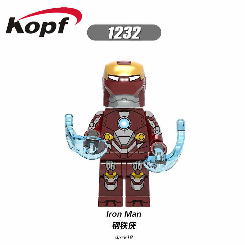 X0254 מכירה אחת סופר גיבורי איש ברזל סדרת דגם סימן 24 סימן 29 סימן 14 סימן 16 אבני בניין דמויות לילדים מתנת צעצועים