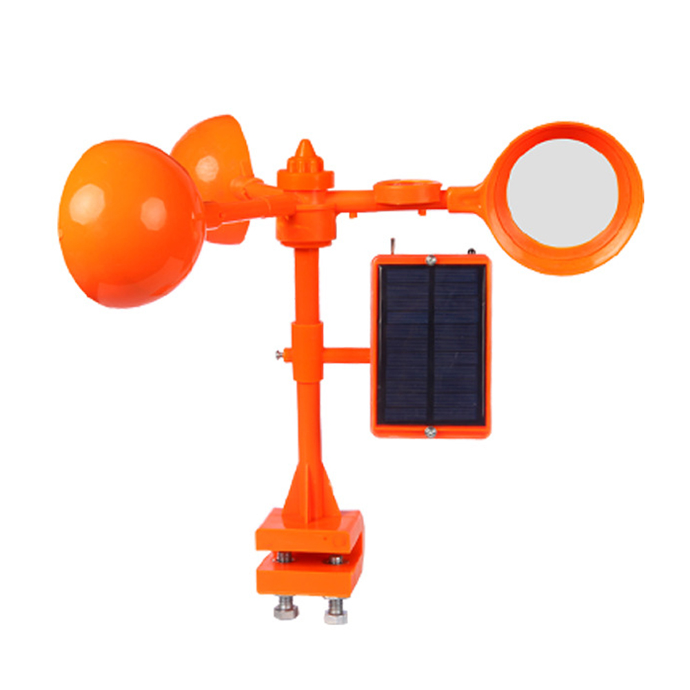 360 Degree Rotary Windproof Solar Bird Repeller Voice Box Orchard Drive Away Farm Airports Scarer Tools Pest Control Crow