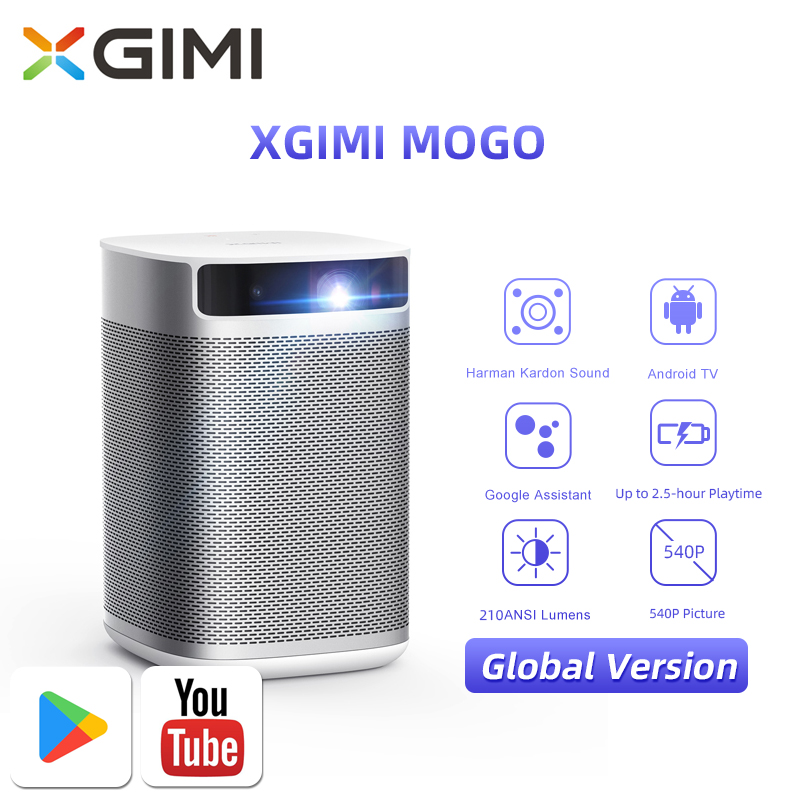 XGIMI MoGo Smart Mini Projector Global Version Portable Video Beamer With 10400mAH Battery 210 Ansi Lumens 3D For Home Theater