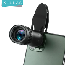 KUULAA Universal 14X Monocular Zoom HD Optical Cell Phone Lens Observing Survey telephoto lens for iPhone 11 Pro Smartphone