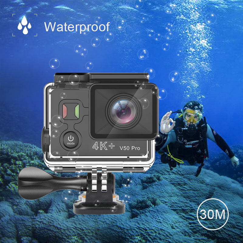 EKEN V50 Pro Mini Action Camera Ambarella A12 Real 4K WiFi Go Waterproof Pro Motorcycle Sport Camera with H9 H6s H5s plus Remote