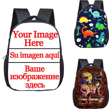 12 inch Customize Your Logo Name Image Toddlers Backpack Animals Dinosaur Children School Bags Baby Toddler Bag - discount item  41% OFF School Bags