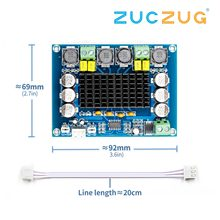TPA3116D2 ثنائي القناة ستيريو عالية الطاقة الرقمية مكبر كهربائي الصوت مجلس 2*120 واط XH M543
