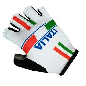 Image 3 - Mezza Finger Gloves ITALIA Ciclismo Guanti Uomo Donna Estate Sport Antiurto Bike Guanti Anti Slip MTB Guanto Della Bicicletta Guanti Ciclismo
