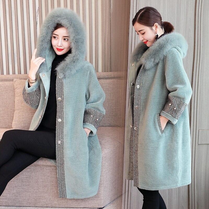 Women's Fur Coat Faux Fur Jacket Autumn Winter Coat Women Korean Long Female Jacket Fur Coats Manteau Femme Hiver KJ1039