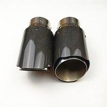 1 шт. в 60 мм и из 101 мм Универсальные выхлопные трубы без шнуровки для мотоцикла AK выхлопные автомобильные наконечники с высококачественными углеродными выхлопными трубами