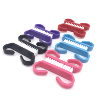 Nail Cleaning Clean Brush File Manicure Pedicure Soft Remove Dust Small Angle Scrub Multi Color Dusting Pedicure Care Tool