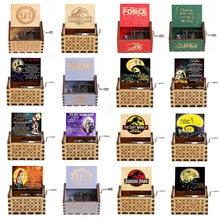 2021 New Anonymity Carved wood Hand Music Box Crank Happy birthday Music Box Children Christmas Gift A Birthday Present