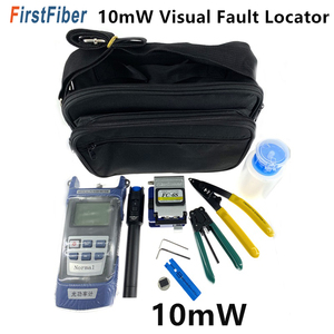 Image 1 - FTTH Fiber Optic Tool Kit with FC 6S Fiber Cleaver and Optical Power Meter 10km/10mW Visual Fault Locator Wire stripper