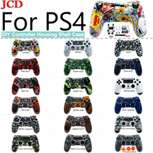 JCD For PS4 Replacement back shell Faceplate case repair for PS4 Controller Housing Cover for dualshock 4 Case for Playstation 4