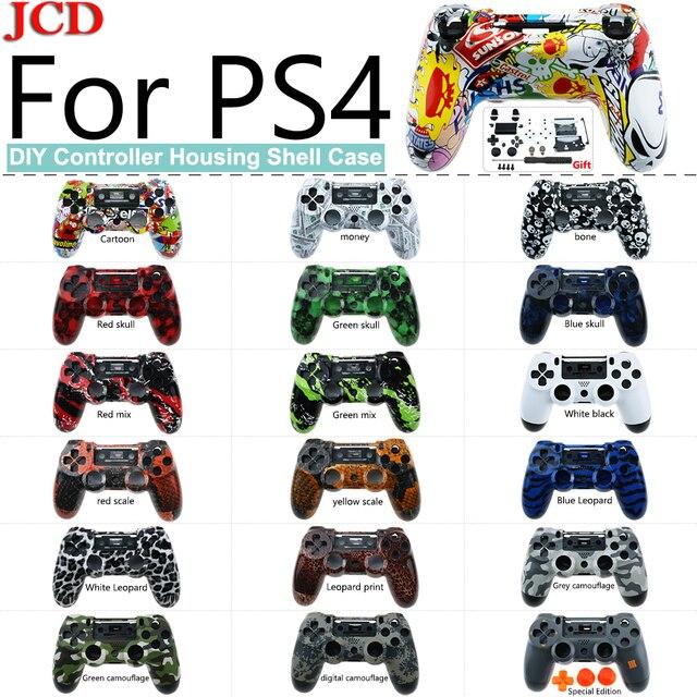 JCD funda trasera de repuesto para PS4, reparación de placa frontal de carcasa para mando de PS4, funda para dualshock 4