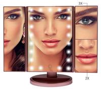 MM01B Bathroom Make Up Hollywood 20X 30 X Magnifying Vanity Led Makeup Mirror With Light Bulb