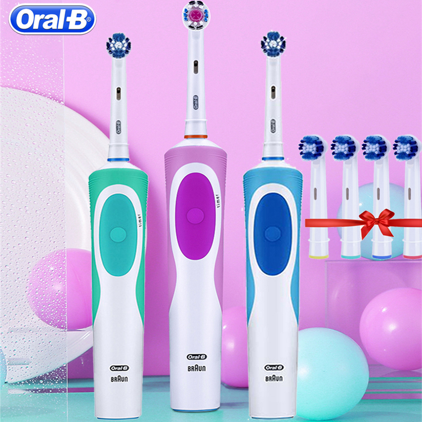 Oral B Vitality D12 Sonic Electric Toothbrush Rotating Rechargeable Brush Heads Teeth Brush Oral Hygiene Tooth Brush Teeth image
