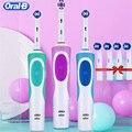 Oral b vitalidade d12 sonic escova de dentes elétrica rotativa recarregável cabeças escova de dentes higiene oral escova de dentes