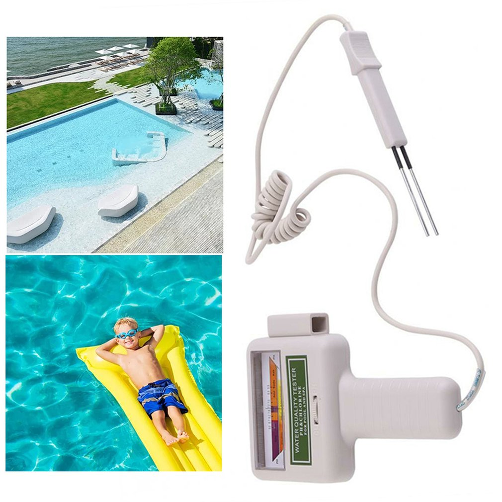 PC101 PH/CL2 Chlorine Tester Digital Water Quality Tester Portable Swimming Pool Spa Aquarium PH Meter Test Accessories