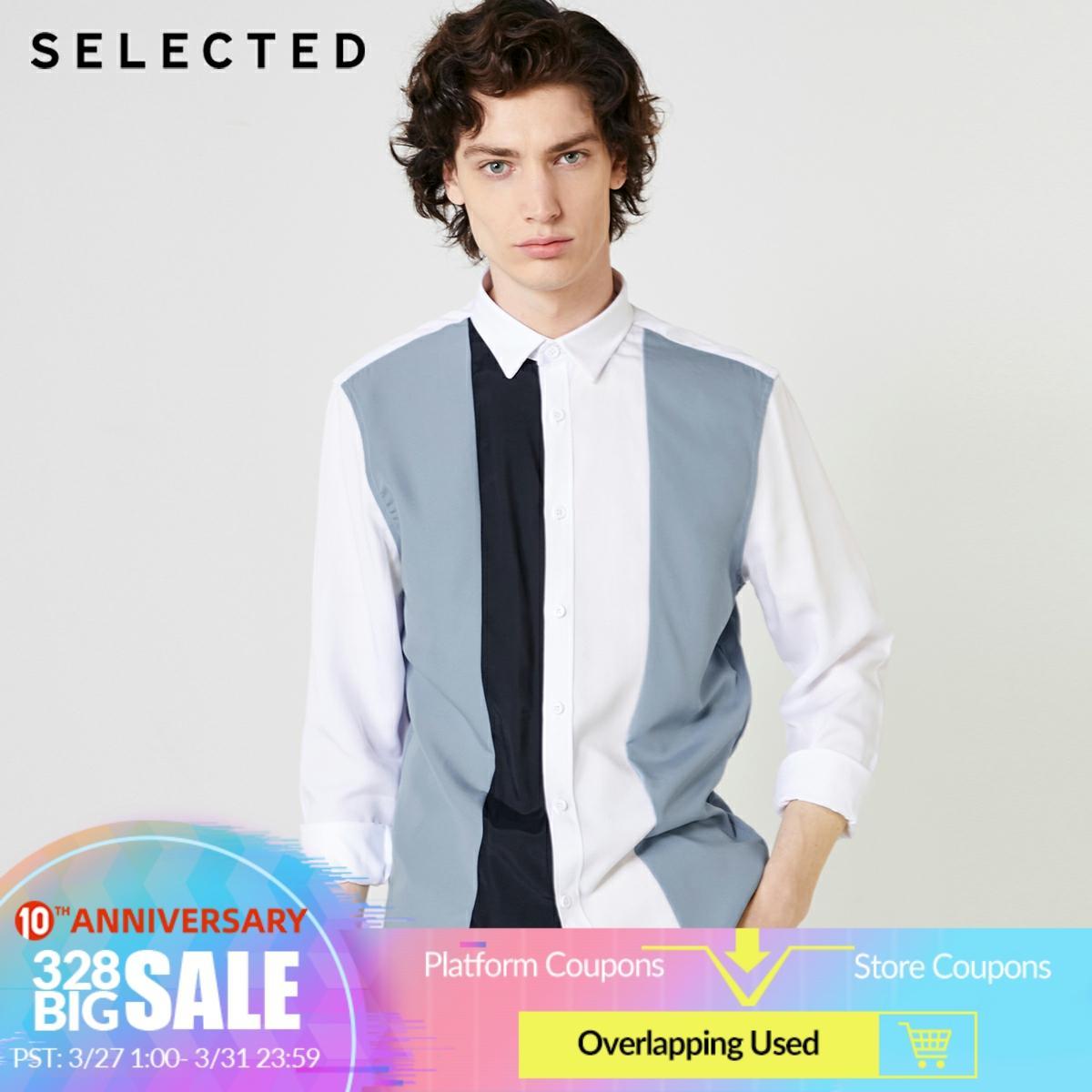SELECTED Men's Assorted Colors Business Casual Regular Fit Shirt S|419105569