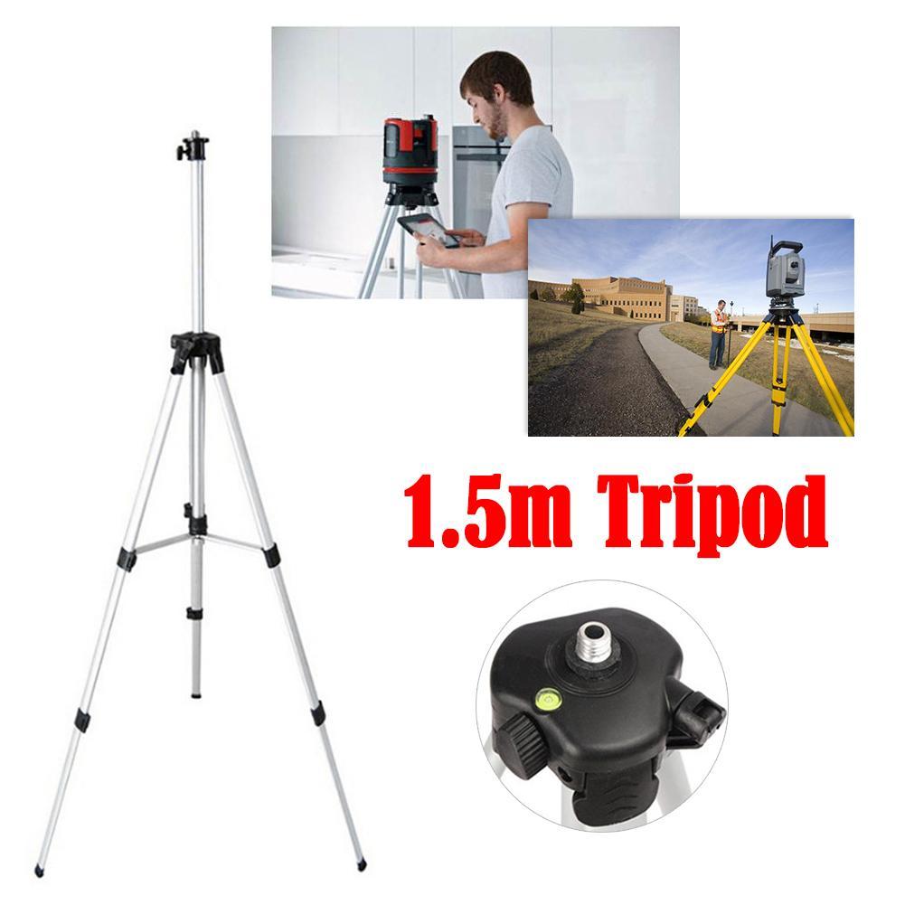 Graus para Medição de Nível de Construção Ferramentas de Marcador Tripé com 1.5m para Nível a Laser Automático de 360 Auto Nivelamento