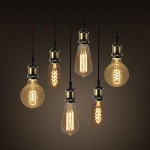 Tungsten Lamp Retro Decoration Bulb Glass LED E27 Light Unique Classic AC220-240V T40 G80 ST64 1700K