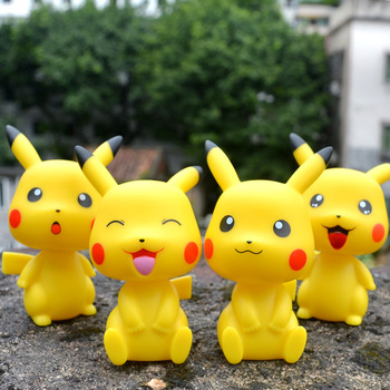 TAKARA TOMY Pikachu Pokemon Shaking His Head Toy Doll Car Decoration Car Accessories head shaking cute cat style toy for car decoration white