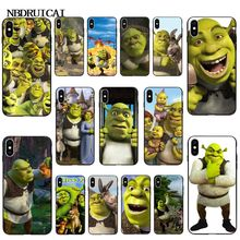 NBDRUICAI Cartoon Moive Shrek Coon TPU Soft Silicone Phone Case Cover for iPhone 11 pro XS MAX 8 7 6 6S Plus X 5 5S SE XR case webbedepp jack skellington silicone soft case for iphone 5 se 5s 6 6s plus 7 8 11 pro x xs max xr