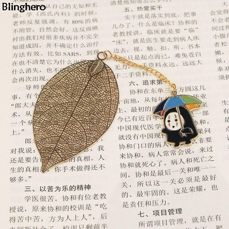 10pcs/set Blinghero Kawaii Metal Bookmark Cartoon Bookmarker Cool Book Marker Of Books Stationery Gift BH0496