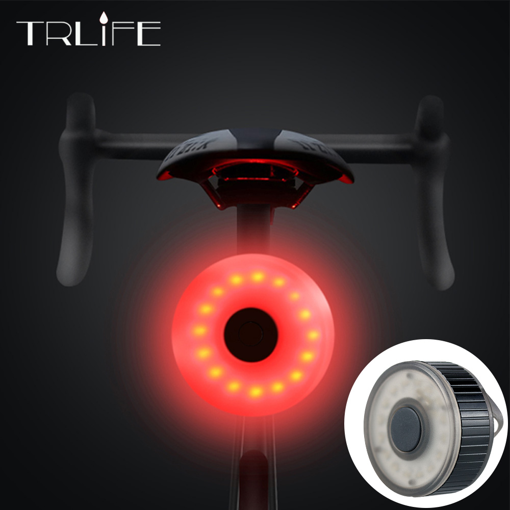 Mini Bicycle Tail Light Bike Rear Light Taillight Smart USB Rechargeable Flashlight Safety Warning Lights Cycling accessory