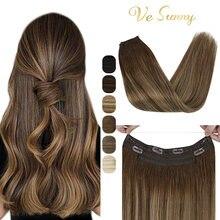 Vesunny halo человеческие волосы для наращивания невидимые скрытые