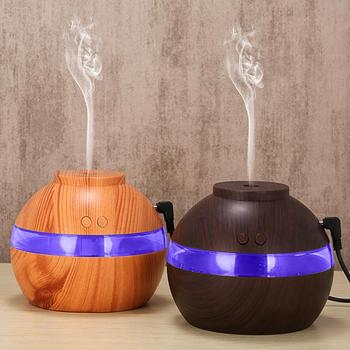 Aromatherapy Aroma Diffuser Air Humidifier 300ml Wood Grain USB  Essential Oil Aromatherapy Cool Mist Maker For Home Office tsundere l air humidifier 500ml essential oil diffuser essential oil wood grain cool mist maker aromatherapy for home