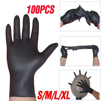 Rozmiar XL jednorazowe rękawice lateksowe 100 sztuk uniwersalny bezpieczeństwo 4 5 g sztuka rękawice nitrylowe pranie w kuchni antystatyczne rękawice ochronne tanie i dobre opinie 140g SFD190322 Średni Czyszczenie Nitrile 4 5g High Quality Nitrile Gloves Household Cleaning Gloves Safety Gloves Laboratory Nail Art Gloves