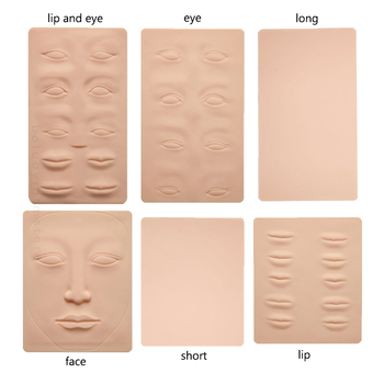 3D Silicone Permanent Makeup Tattoo Training Practice Fake Skin Blank Eye Lips Face For Microblading Tattoo Machine Beginner 1p 1