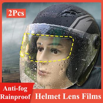 Uniwersalny 3 rodzaje przeciwmgielne przeciwdeszczowe kask filmy wyczyść folia przeciwdeszczowa Anti fog kask motocyklowy Len filmy dla K3 K4 AX8 LS2 MT tanie i dobre opinie CN (pochodzenie)