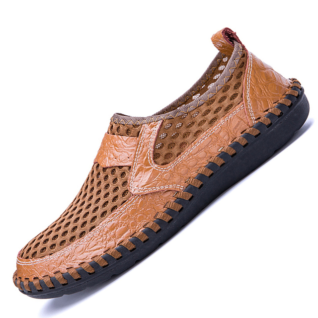 Summer Men Shoes Leather Outdoor