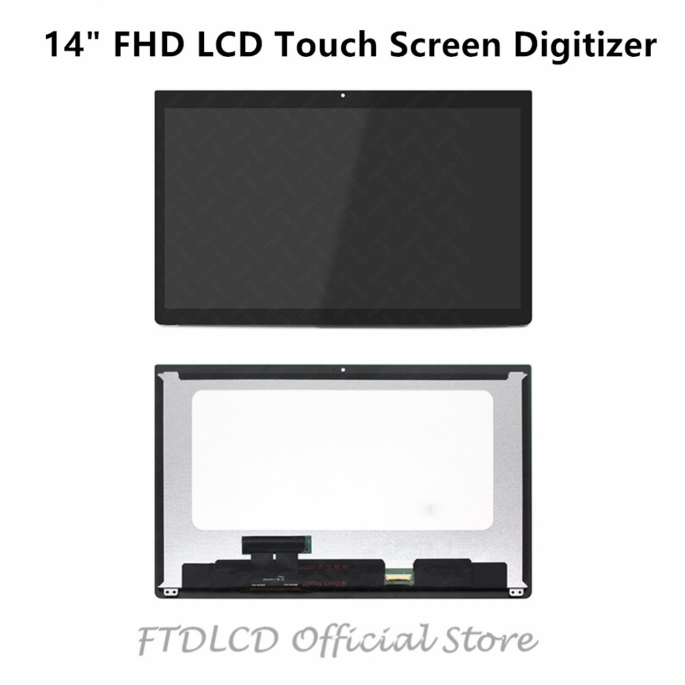 FTDLCD For Dell Latitude 7480 P73G001 7490 P73G002 14 FHD LCD Assembly TouchScreen Digitizer 1920x1080