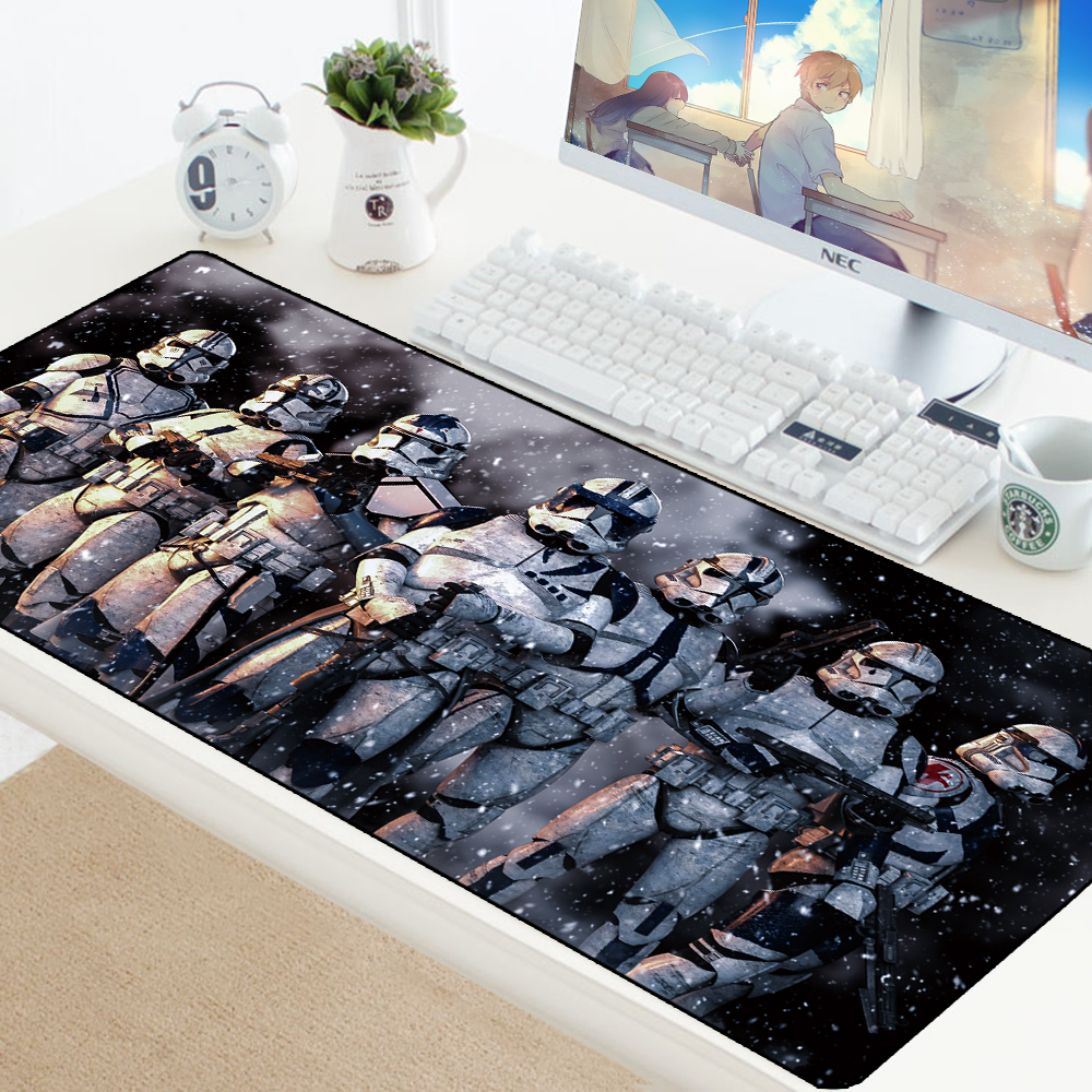 Star Wars 70x30CM Large <font><b>Gaming</b></font> <font><b>Keyboard</b></font> <font><b>Mouse</b></font> Pad Computer Game Tablet Desk <font><b>Mousepad</b></font> <font><b>with</b></font> Edge Locking XL Office Play <font><b>Mouse</b></font> Mats image