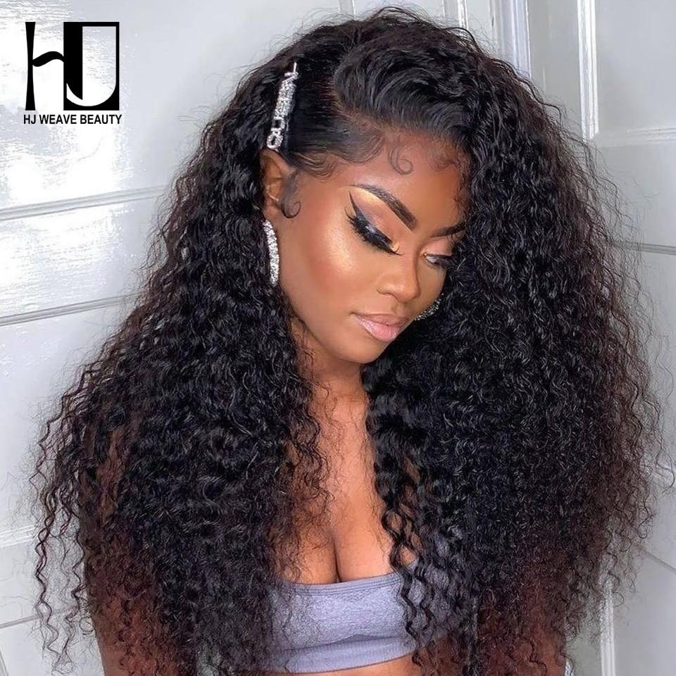 Onda profunda cheia do laço perucas de cabelo humano brasileiro remy cabelo encaracolado 360 perucas frontal do laço para preto feminino 150 densidade peruca dianteira do laço