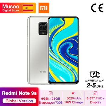 Global Version Xiaomi Redmi Note 9S 6GB RAM 128GB ROM Snapdragon 720G 48MP AI Quad Camera Smartphone Note 9 S 5020mAh