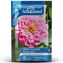 American Heirloom MARSEED Zinnia Elegans Flower  Seedsplants Seedling Garden Outdoor