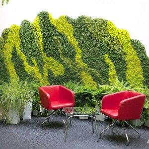 Image 4 - 1000 グラム高品質シミュレーション緑色植物不滅偽花苔草リビングルーム装飾壁 diy の花の装飾