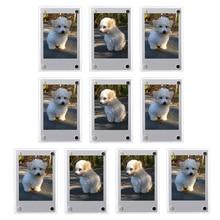 1-10 шт 3 дюйма акриловые для холодильника магнитные 2 сторонние фоторамки для Fujifilm Instax Mini 9 8 7s 25 50s Instax Мини-пленка фотобумага