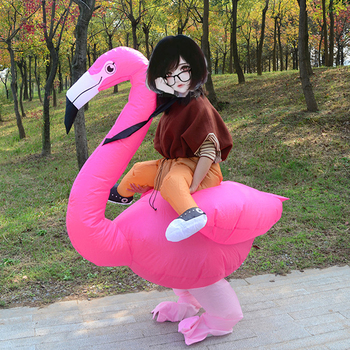 Inflatable Flamingo Anime Costume Party Purim Carnival For Women Adults Children Kids Mascot Cosplay