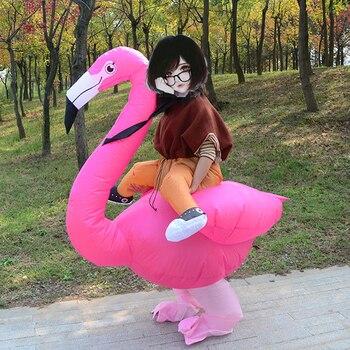 インフレータブルフラミンゴアニメ衣装パーティー purim カーニバルの衣装大人子供子供インフレータブルマスコットコスプレ