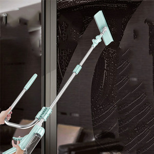 Image 5 - 360 degree flexible Telescopic High rise Cleaning Glass Sponge Mop Multi Cleaner Brush Washing Windows Dust U shape Brush