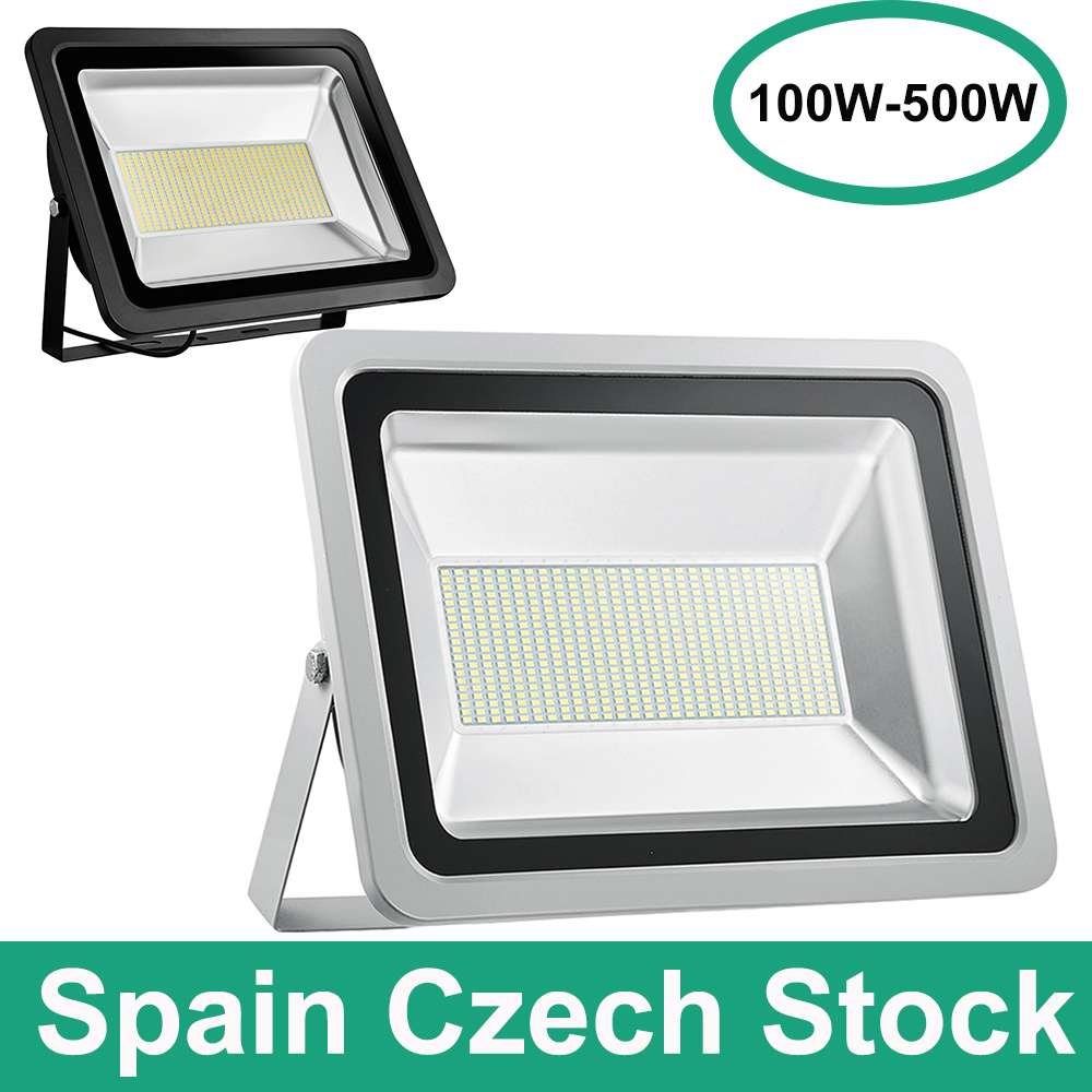 Spotlight 500W 300W 200W 100W Cold White 220V AC Led Floodlight Outdoor IP65 LED Spotlight LED Flood Light Garden Lamp Light