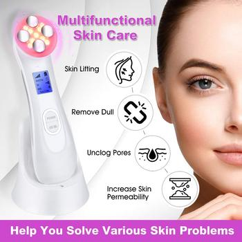 5in1 EMS RF Radio Frequency Machine Mesotherapy Electroporation Face Beauty  LED Photon Face Skin Rejuvenation Remover Wrinkle 6