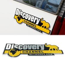 Estilo do carro descoberta canal emblema emblema adesivo veículo caminhão carro corpo decalque networksticker