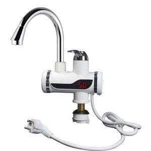 Image 4 - Kbaybo plug ue instantânea tankless elétrica aquecedor de água quente torneira da cozinha aquecimento instantâneo
