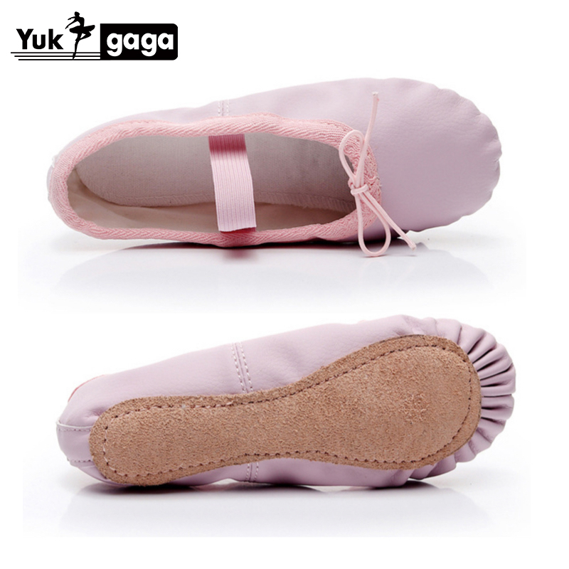 Leather Ballet Shoes Girls Full Cow Suede Sole Toddler Children Ballet Slippers Soft Gymnastics Dance Shoes
