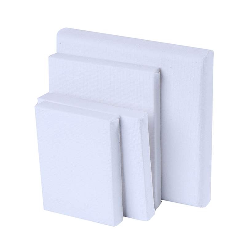 New Blank White Mini Small Stretched Artist Canvas Art Board Acrylic Oil Paint